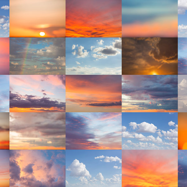 Arizona sunset sky overlays by LJHolloway Photography for use in Photoshop.